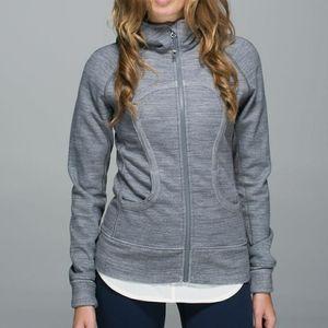 Lululemon Gray Scuba Hoodie Jacket Sweatshirt Yoga Activewear Athleisure Lounge